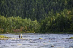 Burnt Hill fishing camp on the Miramichi River - TNB