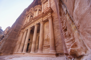 Treasury of Petra. Jordan landmark