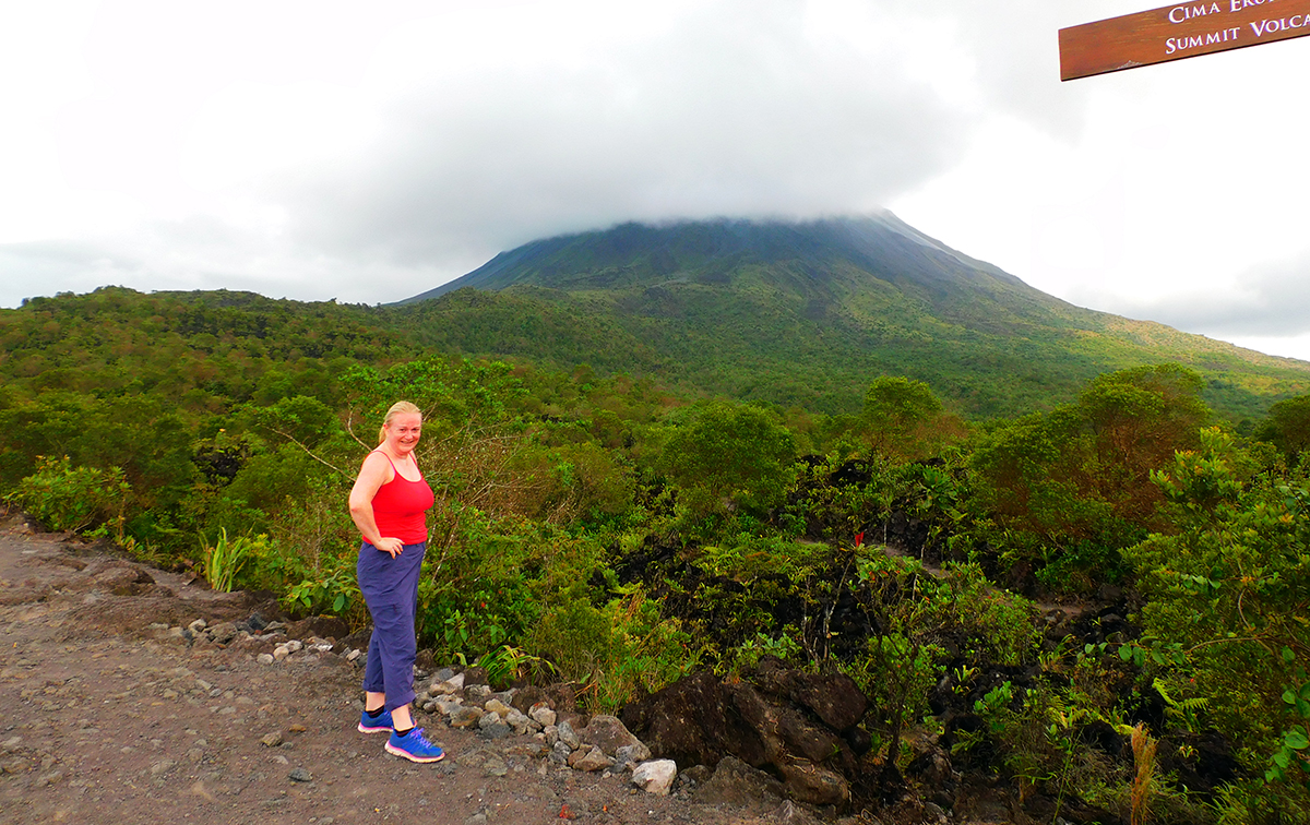 Dawn hiking the Arenal Volcano in Costa Rica