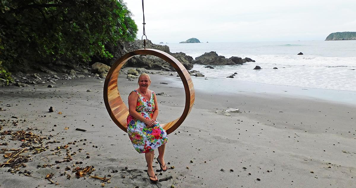 Dawn exploring the beautiful beaches of Costa Rica