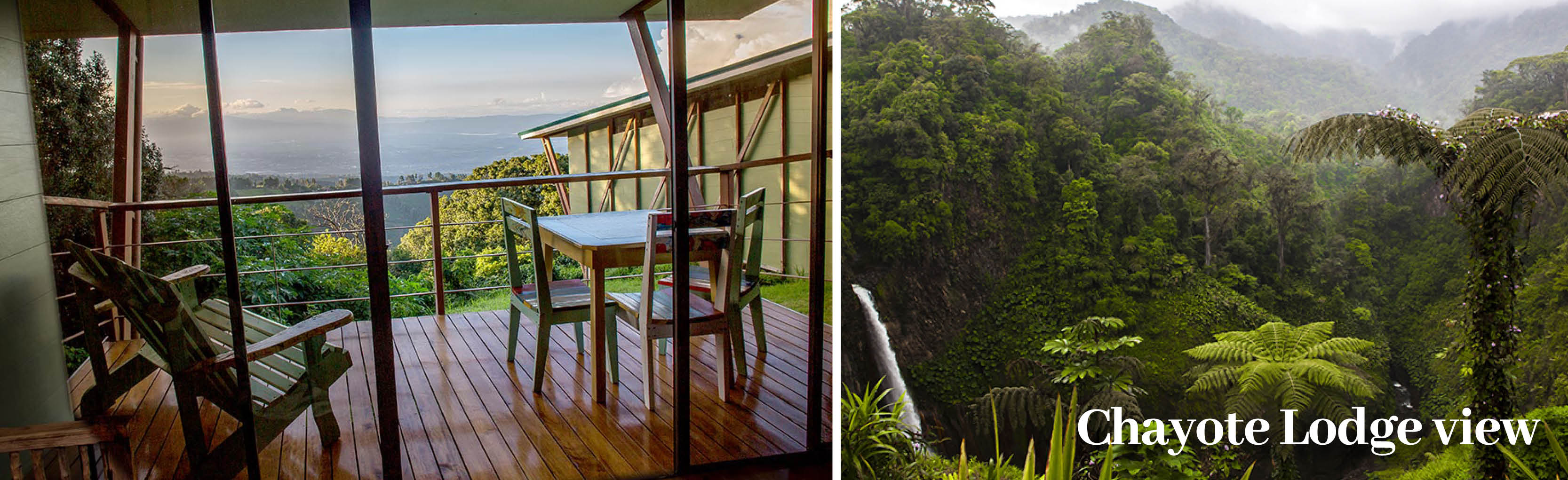 CHAYOTE LODGE VIEW Costa Rica Holiday Offer