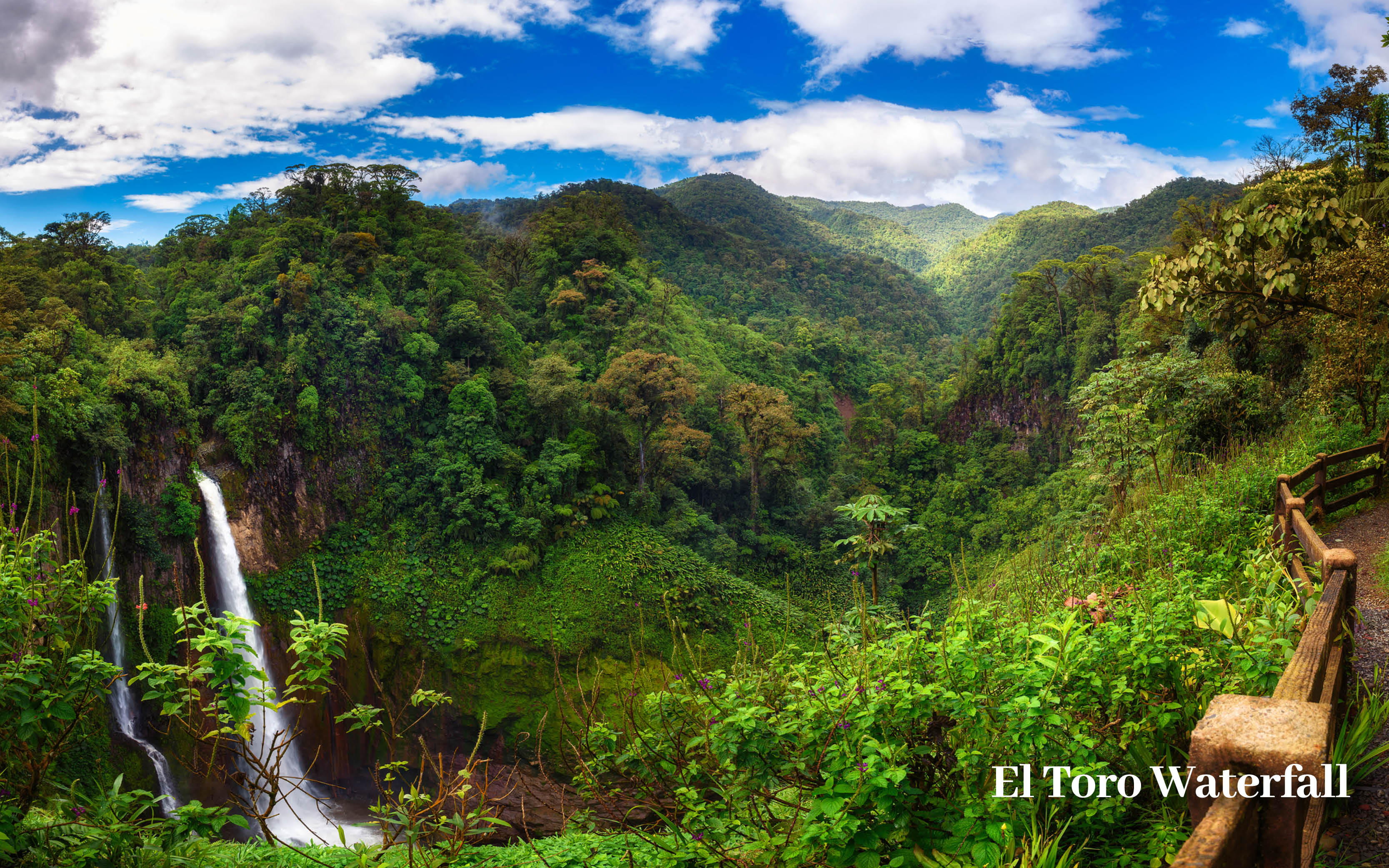 El toro waterfall costa rica holiday offer