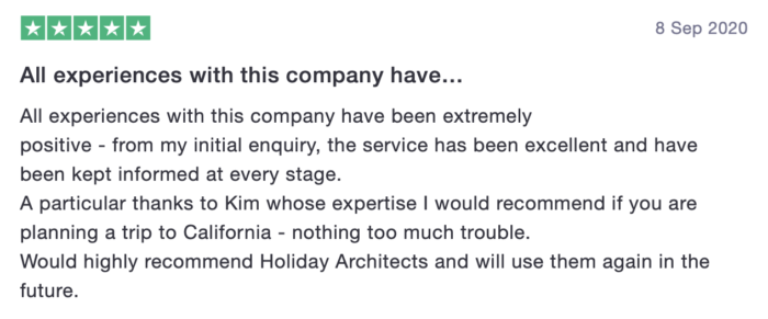 Client feedback Holiday Architects