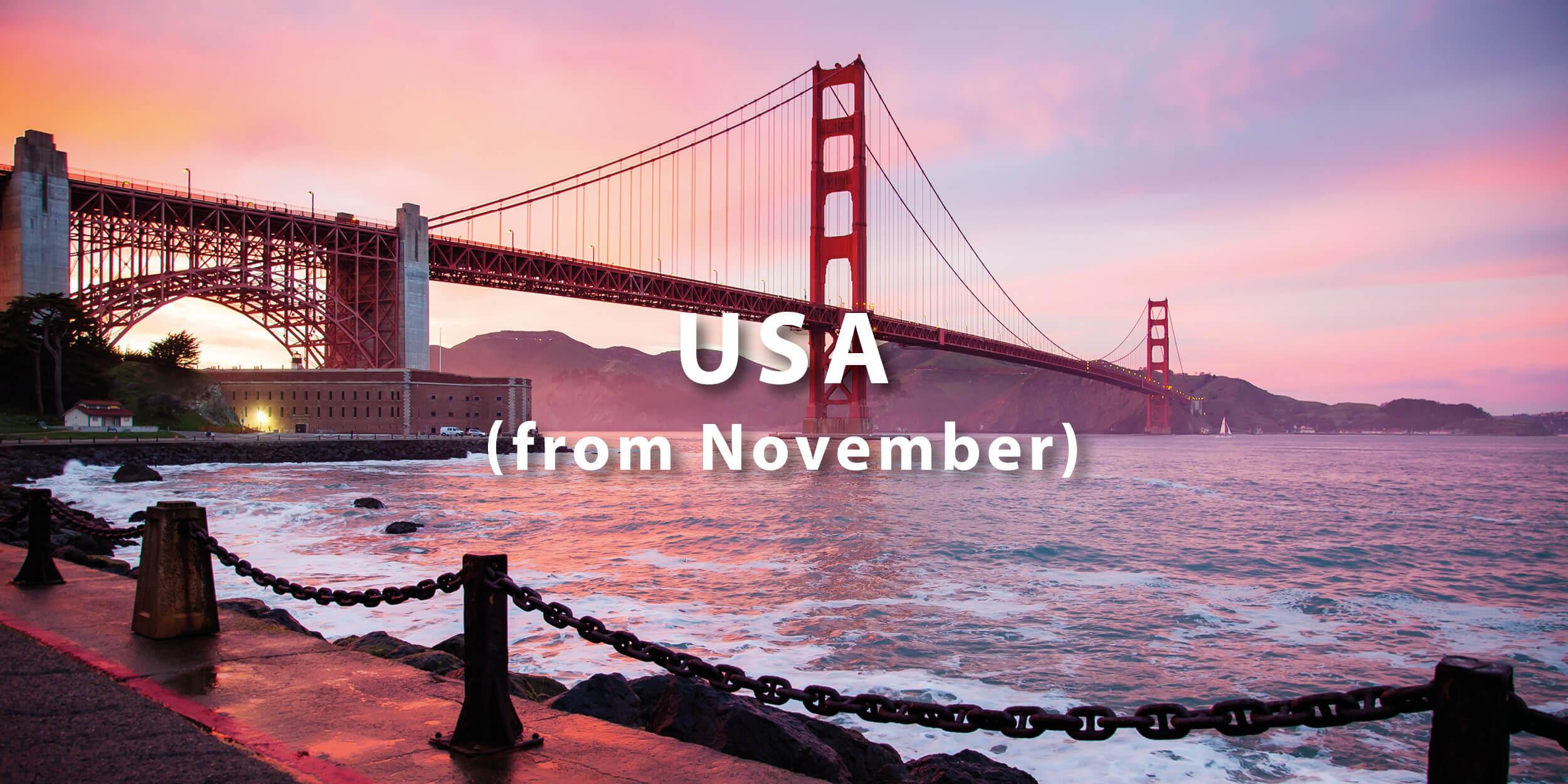 Where you can go now USA